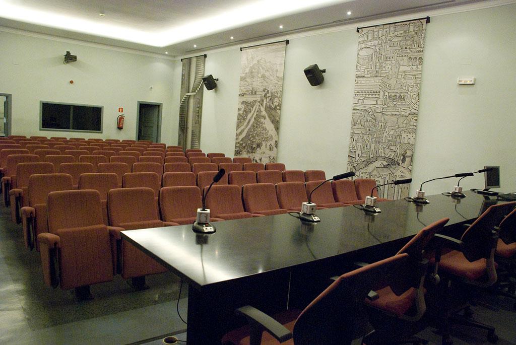 Salón de actos de la Biblioteca Histórica Marqués de Valdecilla