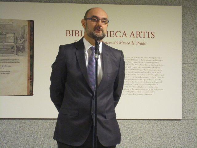 Comisario de la exposición Biblioteca Artis en el Museo del Prado