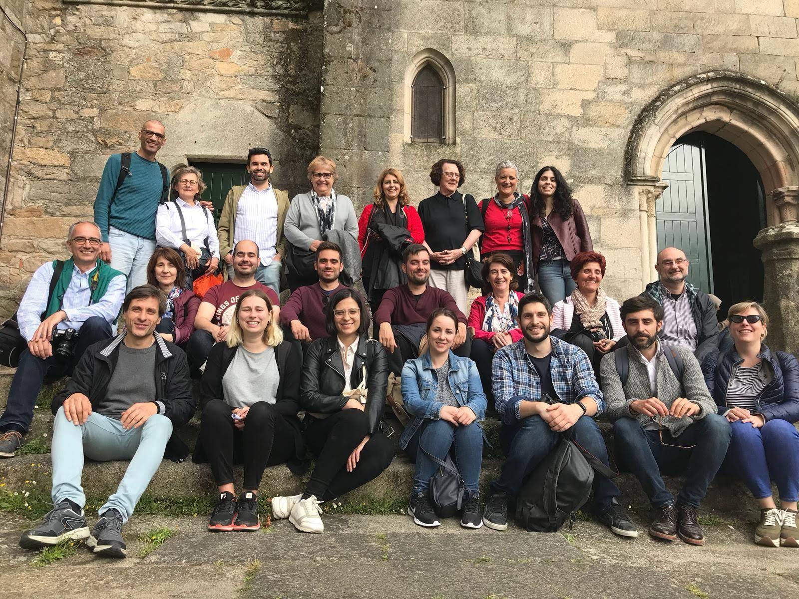 Con amigos y compañeros historiadores del arte en Galicia