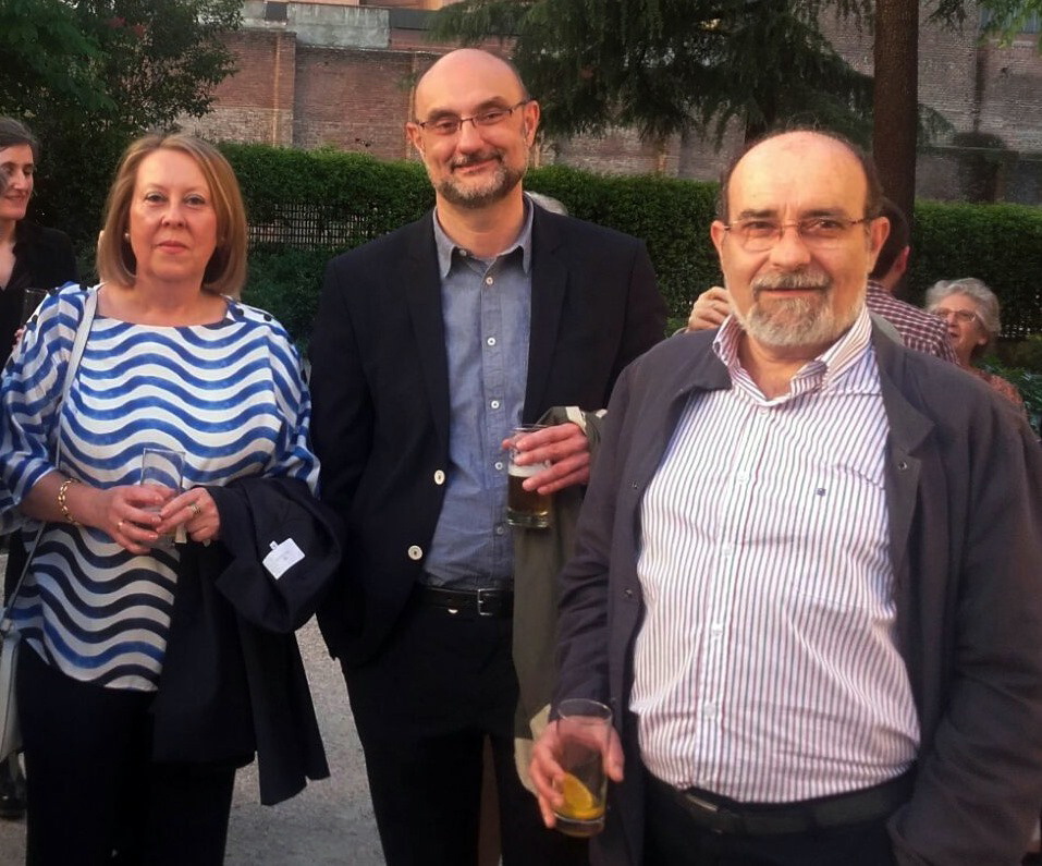 En un homenaje en el Museo Lázaro Galdiano con Nieves y Carlos