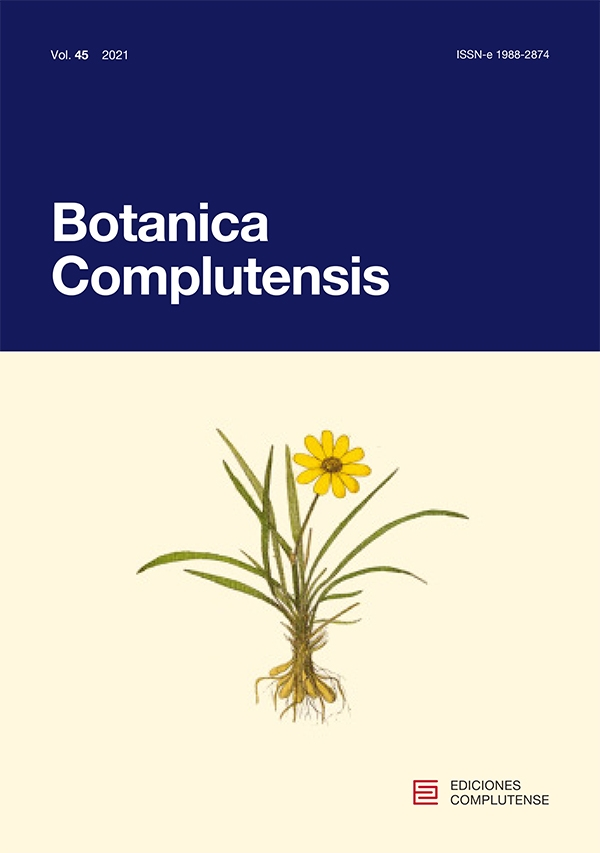 Portada de la revista Botanica complutensis