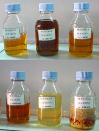 Glicerina procedente de diversos aceites vegetales: maíz, orujo, coco, sojasol, girasol de alto oleico y palma.
