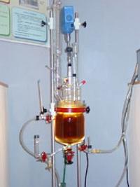 Reactor de laboratorio para producción de biodiesel.