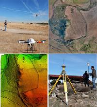 DRON MD4-1000 y GPS TOPCON GR-5. Fotogrametría y Modelo Digital de Elevaciones en el yacimiento de Llerena (Badajoz).