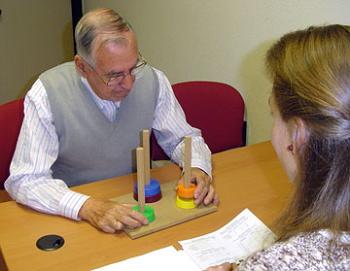 Participante durante la evaluación.