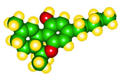 Delta-9- tetrahidrocannabinol, principal componente activo de C. Sativa.