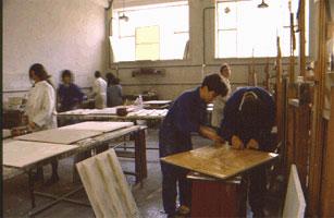 Restauración en la Facultad de Bellas Artes.