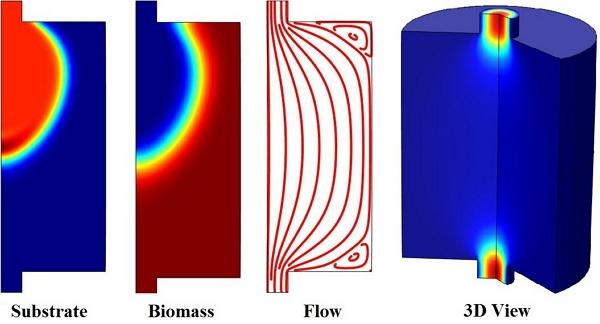 Simulación de un biorreactor.