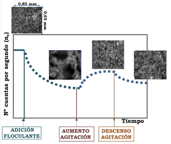 Proceso de floculación-defloculación-refloculación.