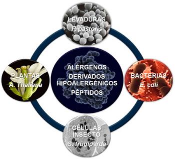 Figura 2.Sistemas de expresión utilizados para producir proteínas recombinantes.