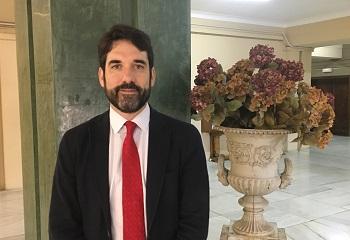 Pablo de la Cueva en la facultad de Medicina de la UCM. / UCM.