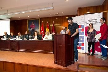 David Pastor, Violeta Medina y Sergio Álvarez, premiados de Opinión. / Alfredo Matilla