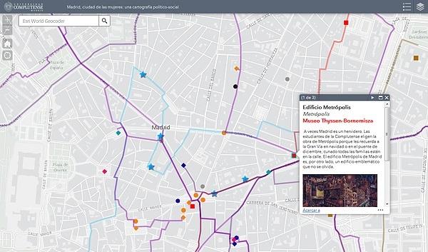 Mapa de Madrid elaborado a partir de la investigación de este grupo. / UCM.