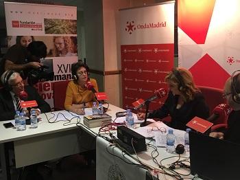 Jesús Sánchez Martos y Mercedes Gómez Bautista en el programa de Onda Madrid. / UCM.