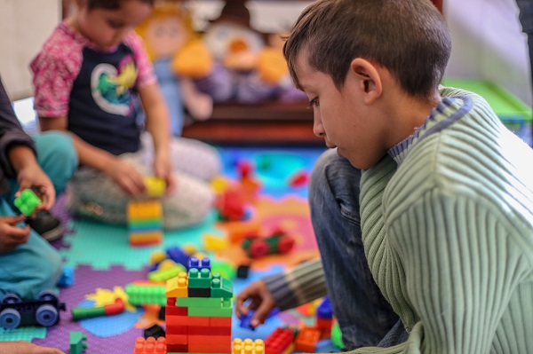El juego es una herramienta para el cambio social en los niños y las niñas. / UNICEF Ecuador.