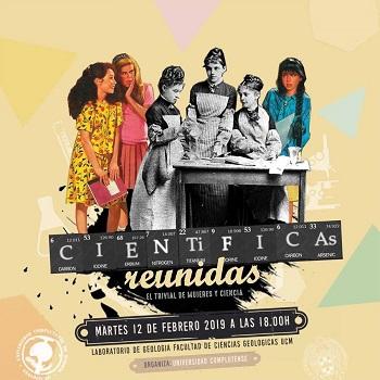 """Cartel promocional de la actividad. / Equipo de """"Científicas Reunidas"""