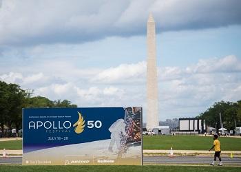 Celebración del aniversario en Washington. / NASA.
