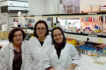 Algunas de las autoras del trabajo: Elvira Álvarez, Verónica Hurtado y Carmen Sanz. / J. García