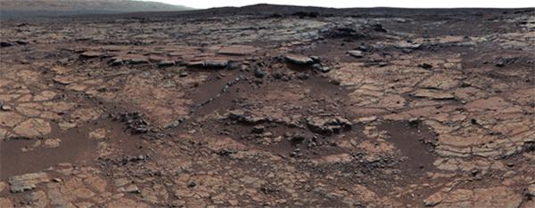 Imagen tomada por Curiosity del Gillespie Lake Member, en el valle Paz de Marte. / NASA/JPL-Caltech/MSSS.