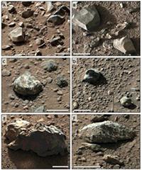 Fotografías de las rocas analizadas en el estudio. / R.A. Yingst et al.