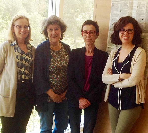 De izquierda a derecha, Mercedes Fernández Valladares, Ana Vian, Consolación Baranda y María Casas. / Imagen cedida por las investigadoras.