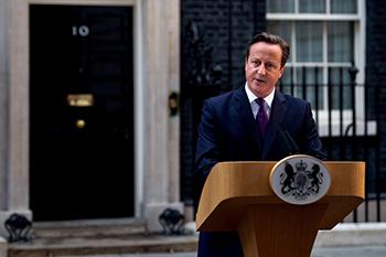 El primer ministro británico, David Cameron, ha presentado su dimisión al conocer el resultado. / Oficina del Primer Ministro.
