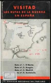 Mapa de las Rutas Turísticas de Guerra (1938). / Biblioteca Nacional.