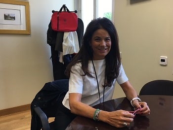 Isabel Durán, en su despacho. / UCM.