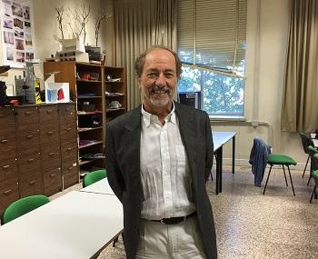 Miguel Ángel Maure en la facultad de Bellas Artes. / UCM.