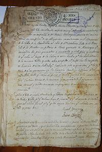 Registro de incendio en Serradilla, Cáceres, en 1825. / Archivo Histórico Provincial de Cáceres.