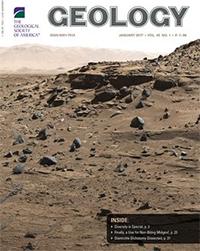 El estudio se destaca en la portada de enero de Geology.