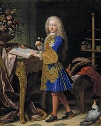 Carlos III, niño, en su gabinete, óleo de Jean Ranc. Hacia 1724. / Museo Nacional del Prado.