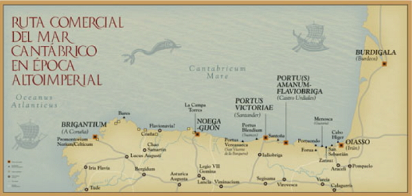 El Cantábrico fue ruta comercial desde el siglo I. / Fernández Ochoa y Morillo.