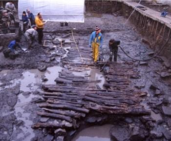 Restos del puerto de Oiasso (Irún). / Fundación Arkeolan.