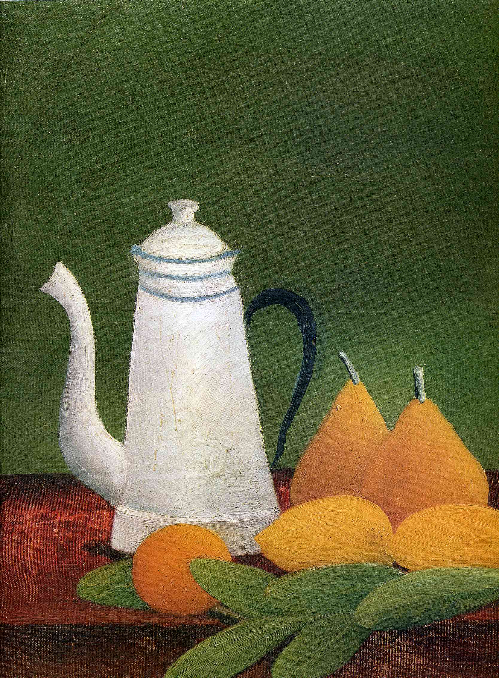 Rousseau - Still Life with teapot and fruit