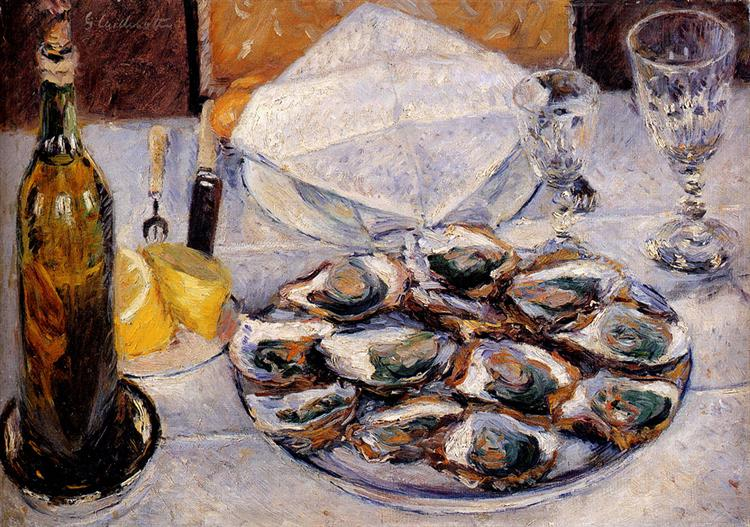 Caillebotte - Still life with oysters - 1881