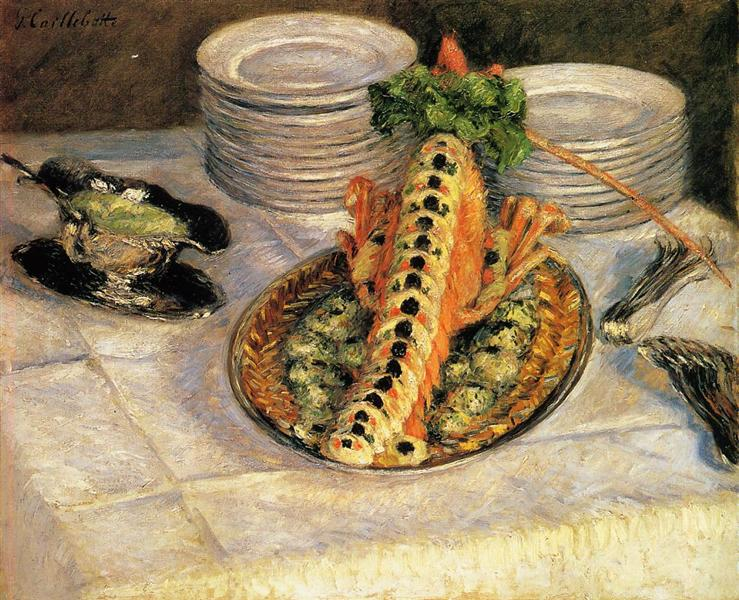 Cailleotte - Still life with crayfish - 1880-1882