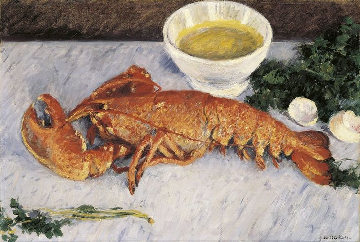 Gustave Caillebotte - Still life with lobster - 1881