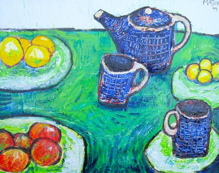 Clarence Major (1919-1995) - Blue Teapot