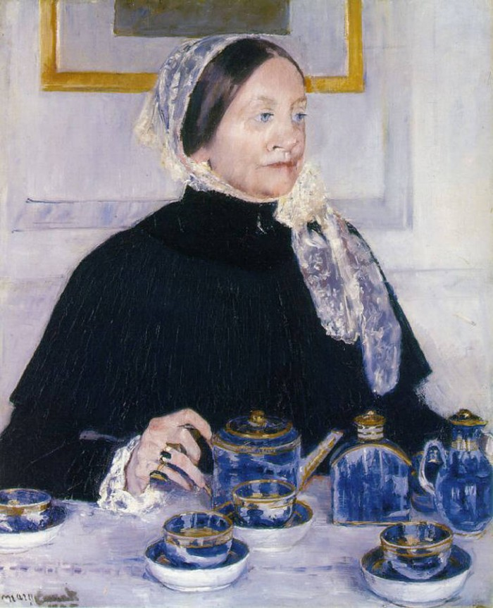 Mary Stevenson Cassatt - Lady at the tea table - 1923