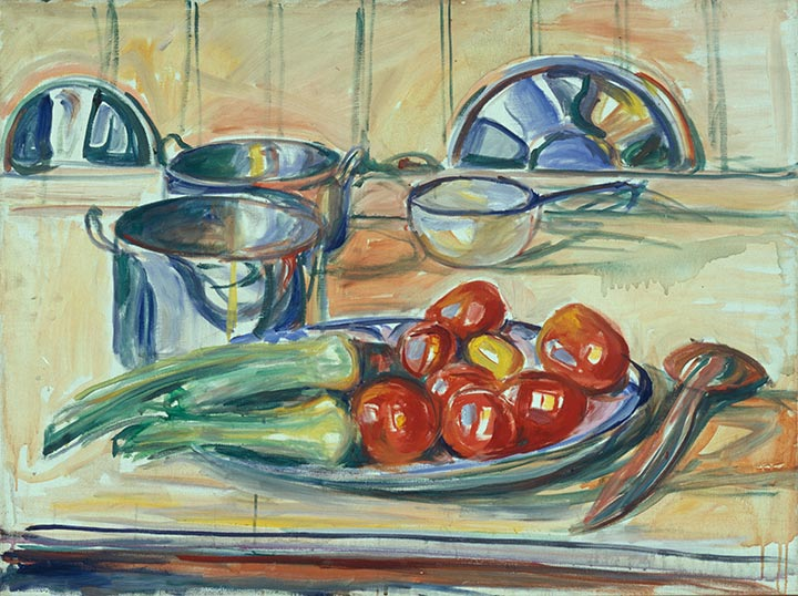 Munch - Still Life with Tomatoes, Leek and Casseroles 1926–30
