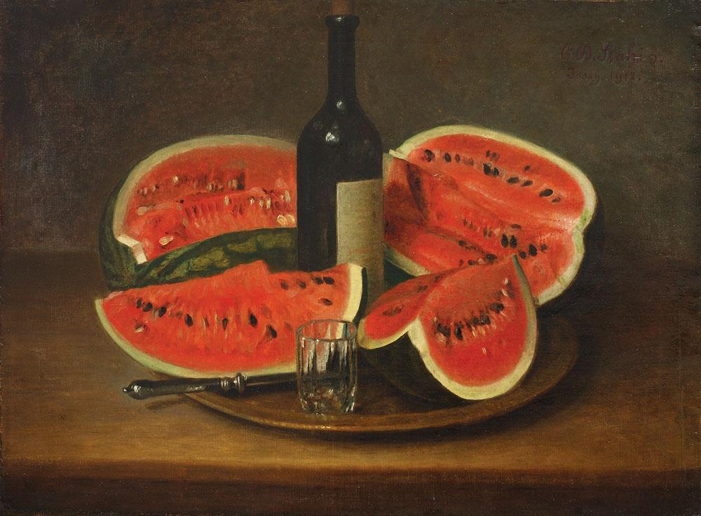 Still Life With Watermelons - 1912 - Constantin Stahi