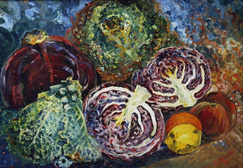 Chris Lanooy (1881 - 1948) Still life with cabbage, 1919
