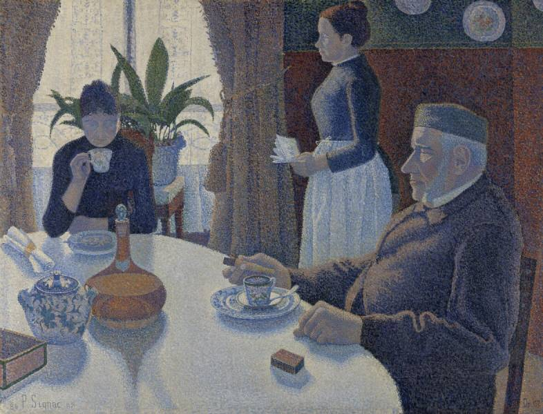 Paul Signac (1863-1935) The dining room, Opus 152, 1886 - 1887
