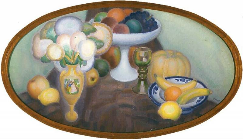 Leo Gestel (1881-1941) Still life in an oval II, 1920