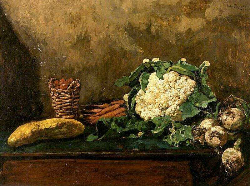Willem de Zwart (1862-1931) Still life with cauliflower, c.1990
