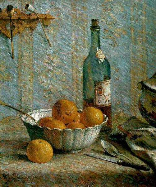 Emile Schuffenecker (1851-1934) Still life with a bowl and fruits, 1886