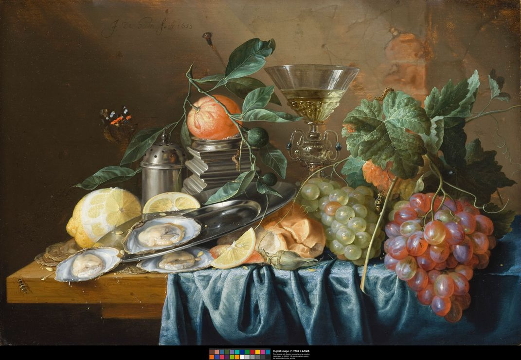 Jan Davidsz de Heem - Still Life with Oysters and Grapes - 1653