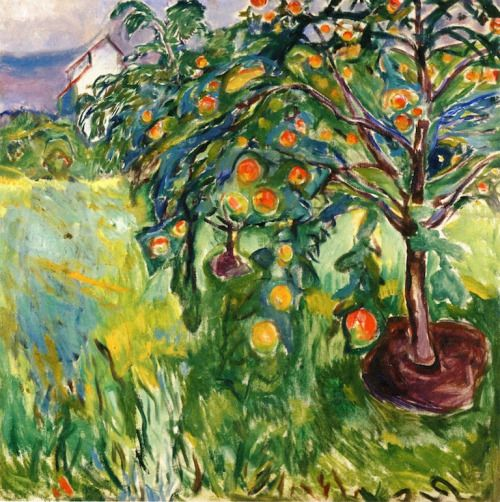 Edvard Munch - Apple tree - 1920-1928