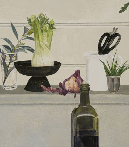 Cressida Campbell - Olive oil and fennel